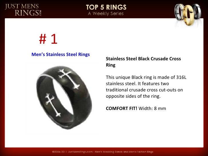 JMR Top 5 Rings Weekly Series - Men's Stainless Steel Rings - 웹