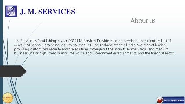 J M Services - Secuirity Solution Slide 2