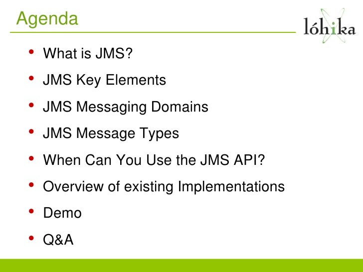 JMS Providers Overview