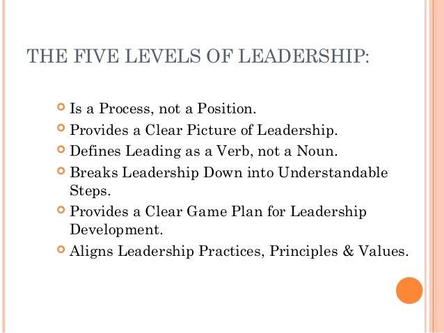 Jmt five levels of leadership tlg 2013