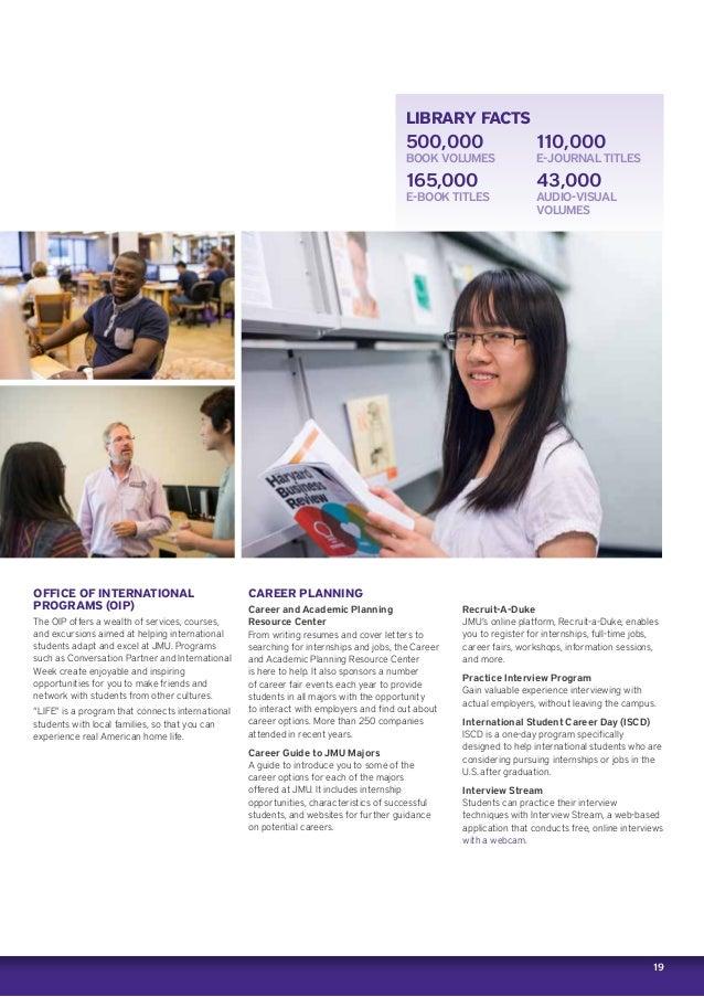 James Madison University brochure 2016 2017