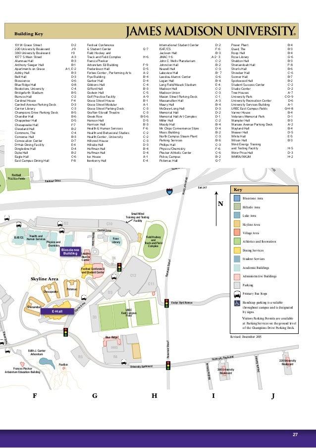 James Madison Campus Map.James Madison University Brochure 2016 2017