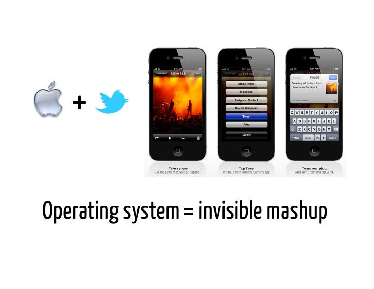+ Operating system = invisible mashup