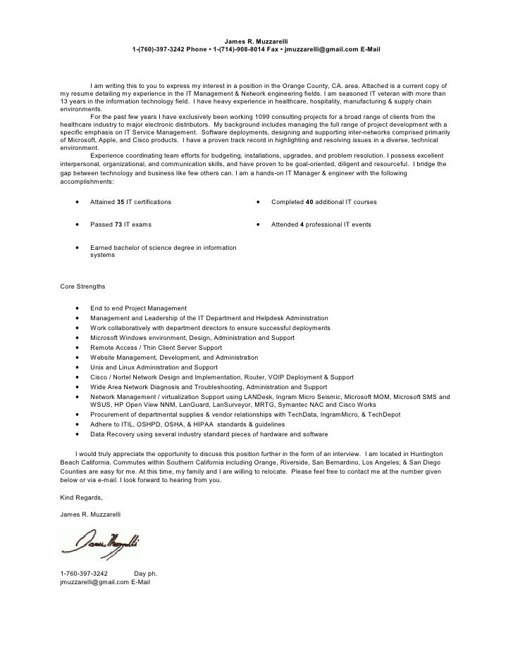 current cover letter resume james r muzzarelli 1 760 397 3242 phone 1 - Video Production Cover Letter