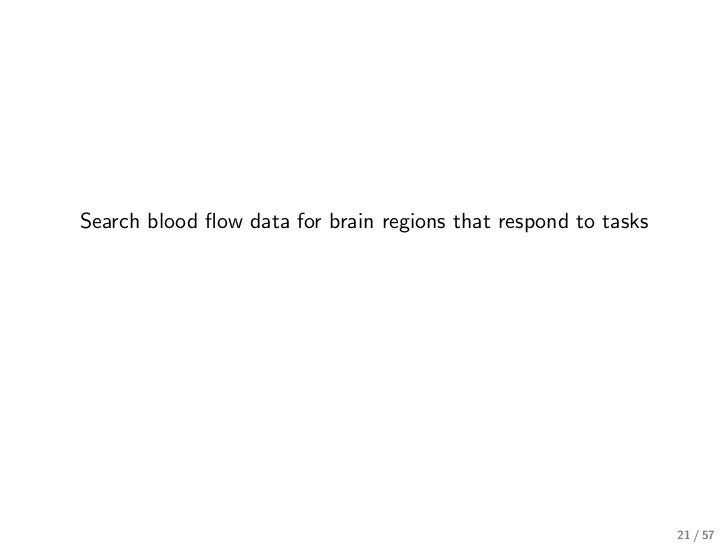 Search blood flow data for brain regions that respond to tasks                                                             ...