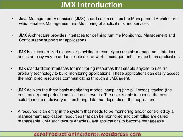 Introduction to JMX Technology - docs.oracle.com