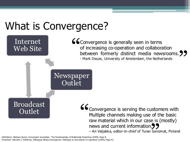 electronic media and their convergence transformed journalism and news consumption Media convergence and the transformed media environment 37 in their book media convergence: in the case of news media.