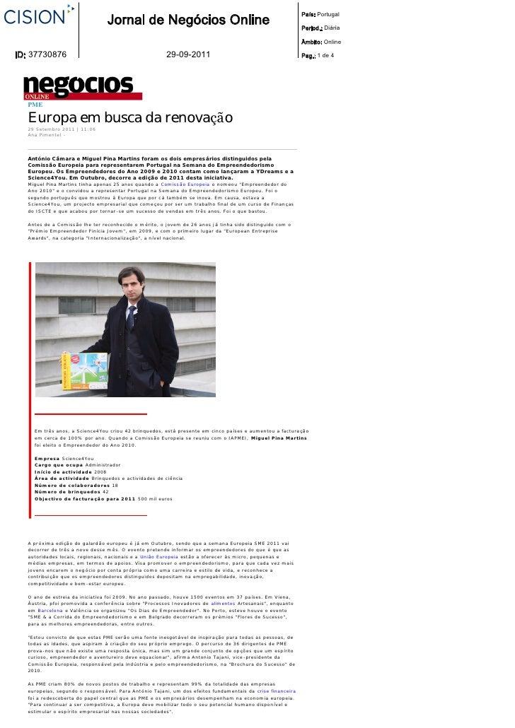 País: Portugal                                  Jornal de Negócios Online                                                 ...