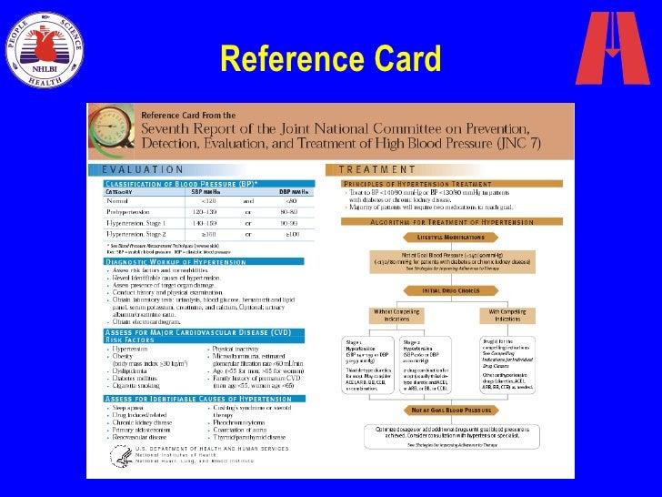 hipertens o arterial slides da jnc7 rh slideshare net JNC 8 Stages JNC 8 Pocket Card