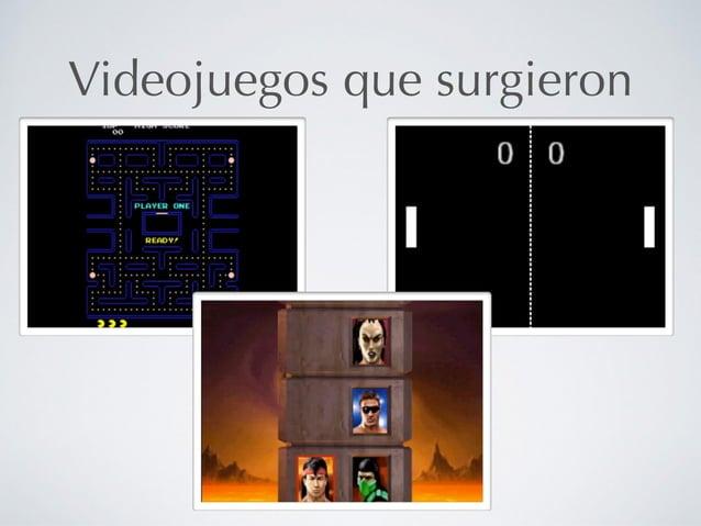 Videojuegos que surgieron