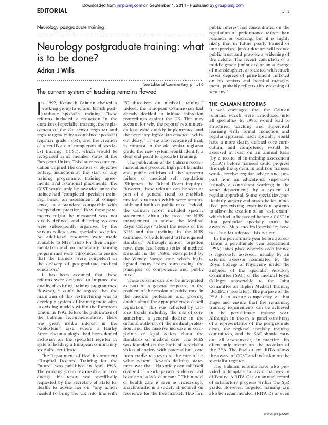 EDITORIAL 1513  Neurology postgraduate training  . . . . . . . . . . . . . . . . . . . . . . . . . . . . . . . . . . . . ....