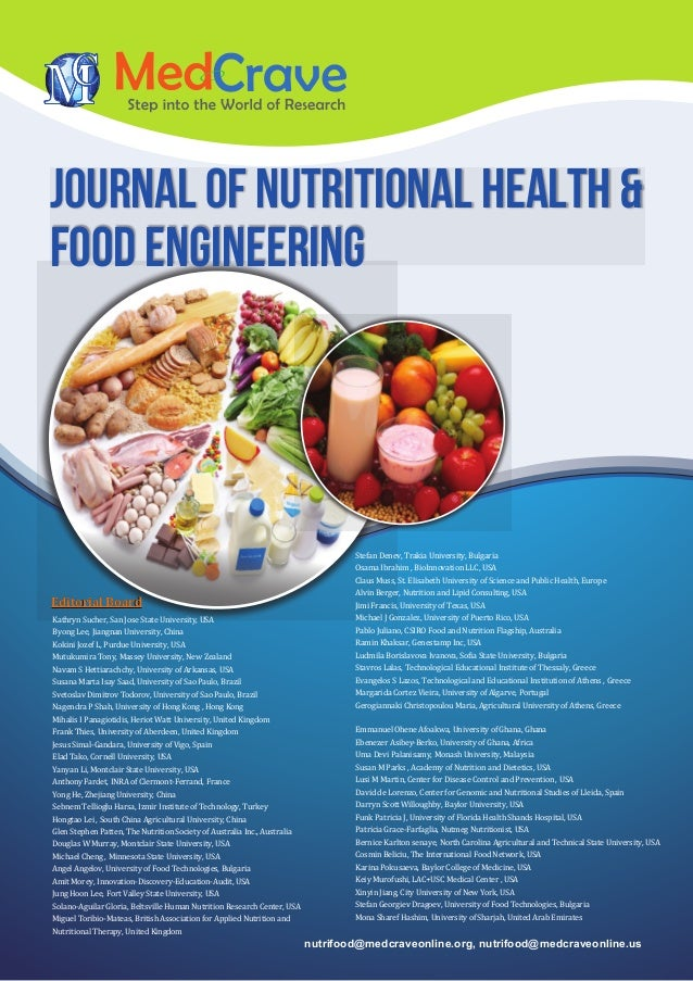 Journal of Nutritional Health & food engineering nutrifood@medcraveonline.org, nutrifood@medcraveonline.us Kathryn Sucher,...