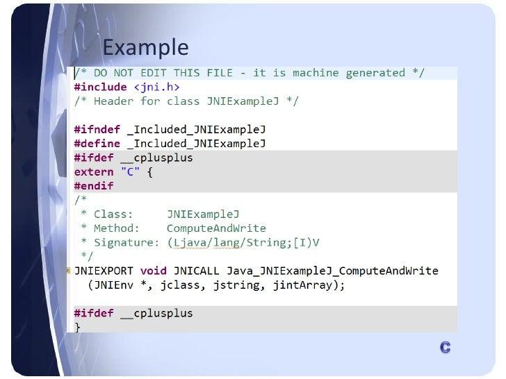 Jni – java native interface