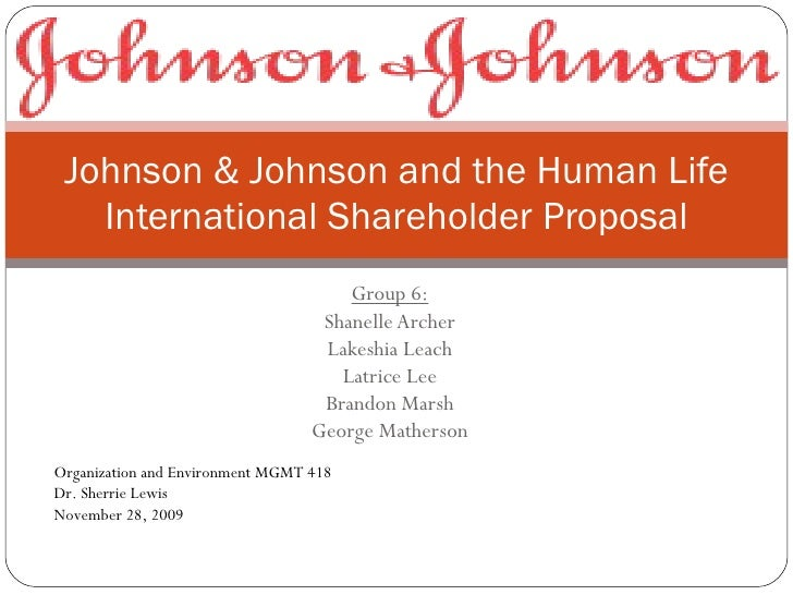 johnson johnson research paper