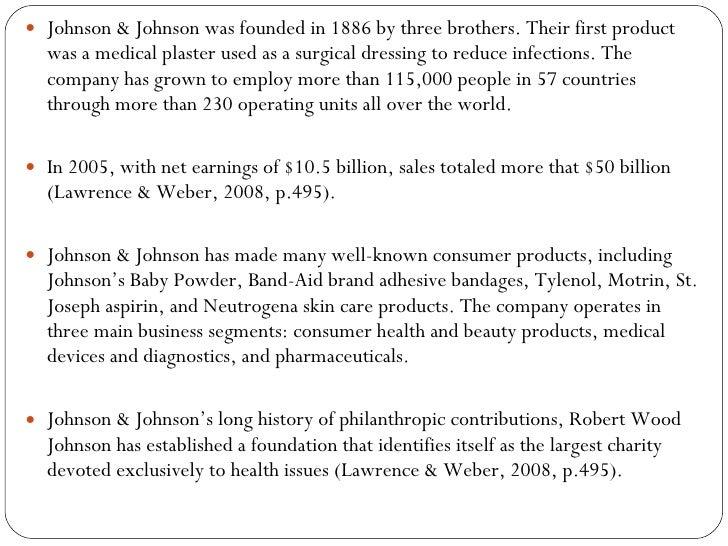 Conclusion johnson johnson