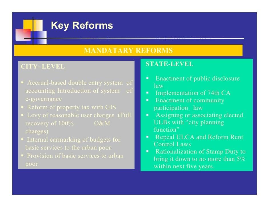 Key Reforms                       MANDATARY REFORMS  CITY- LEVEL                               STATE-LEVEL                ...