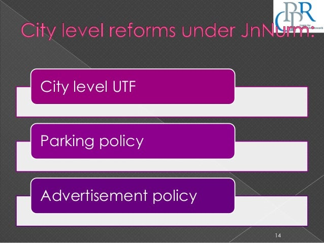 City level UTF Parking policy Advertisement policy 14