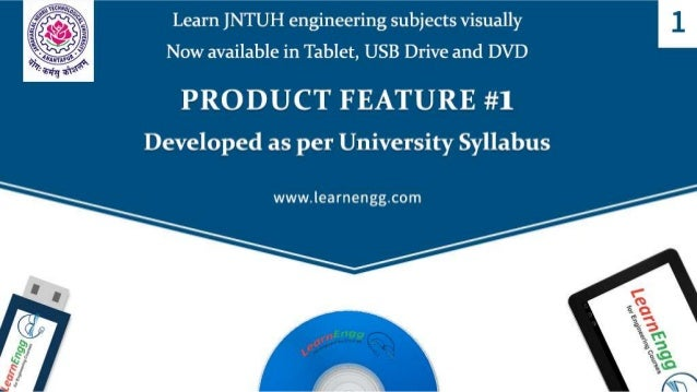 LEARN JNTUH ENGINEERING SUBJECTS VISUALLY: NOW AVAILABLE IN TABLET, USB DRIVE AND DVD Slide 2