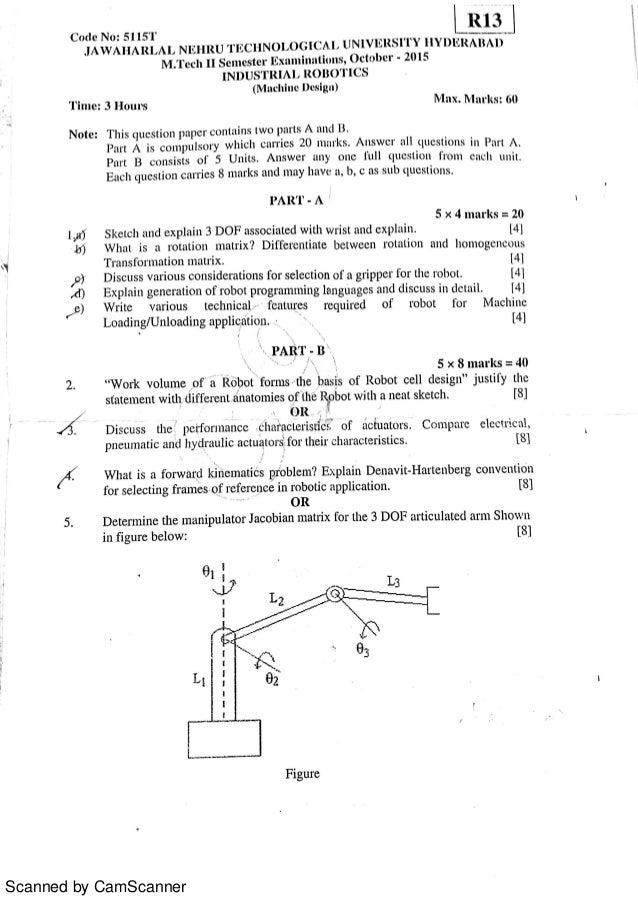 Jntu Mtech 2nd Semester Machine Design Question Papers 2016