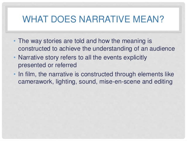 Plot and Narrative Theories