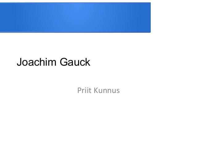 Joachim Gauck Priit Kunnus