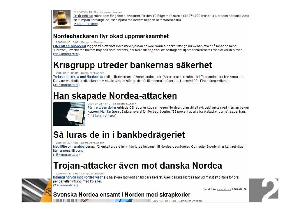 Saxat från www.idg.se 2007-07-26
