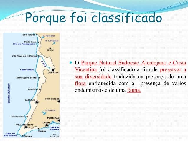 Porque foi classificado O Parque Natural Sudoeste Alentejano e CostaVicentina foi classificado a fim de preservar asua di...
