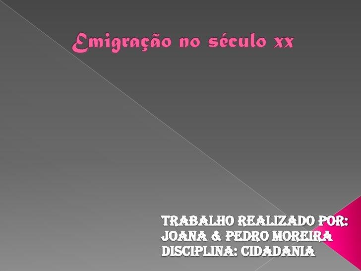 A emigração é o acto e o fenómeno espontâneo de deixar o seu local de residência para se estabelecer numa outra região ou...