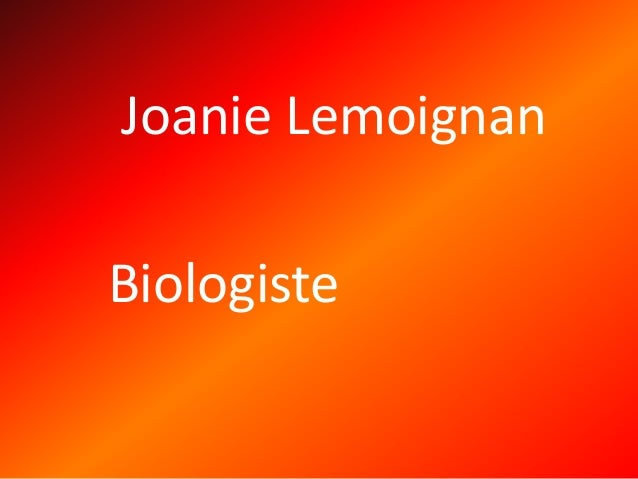 Joanie Lemoignan Biologiste