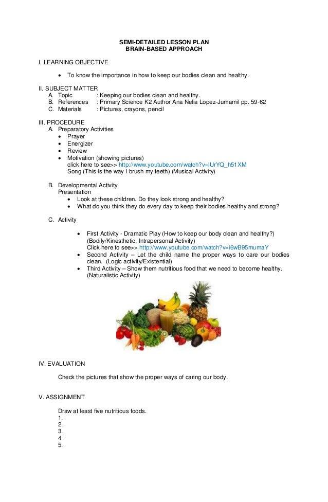 joan marimon semi detailed lesson plan 1 638 - Lesson Plan For Kindergarten