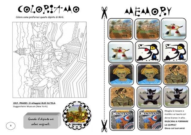 Joan Mirò Spiegato Ai Bambini Libretto Di 20 Pagine Con Giochi At