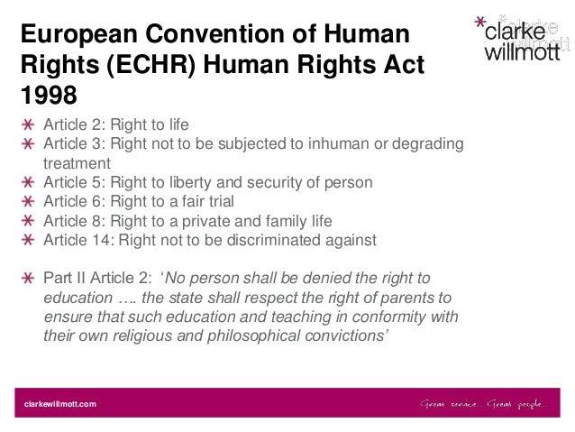 Human rights act and mental health