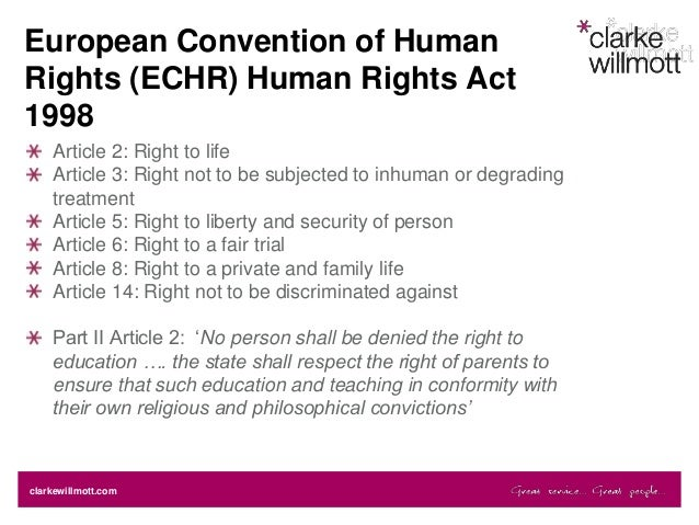 Human rights act and mental health