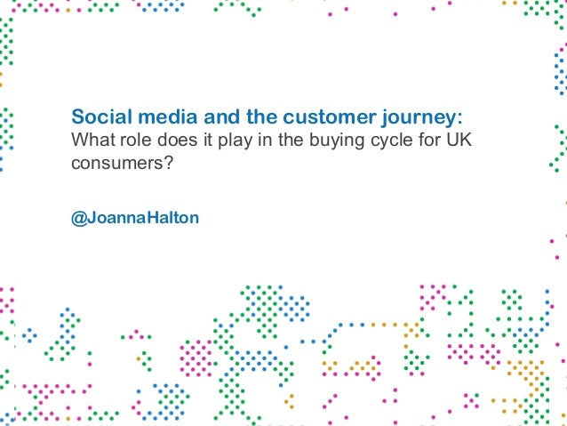 Social media and the customer journey: What role does it play in the buying cycle for UK consumers? @JoannaHalton