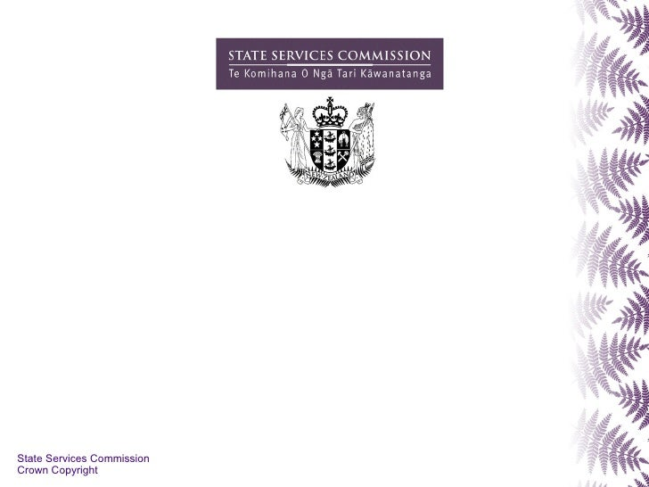 State Services Commission Crown Copyright