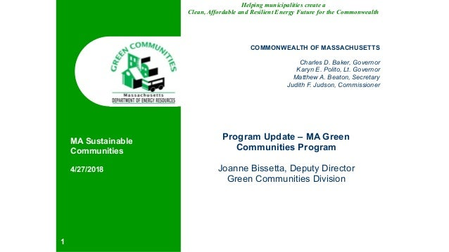 Helping municipalities create a Clean, Affordable and Resilient Energy Future for the Commonwealth COMMONWEALTH OF MASSACH...