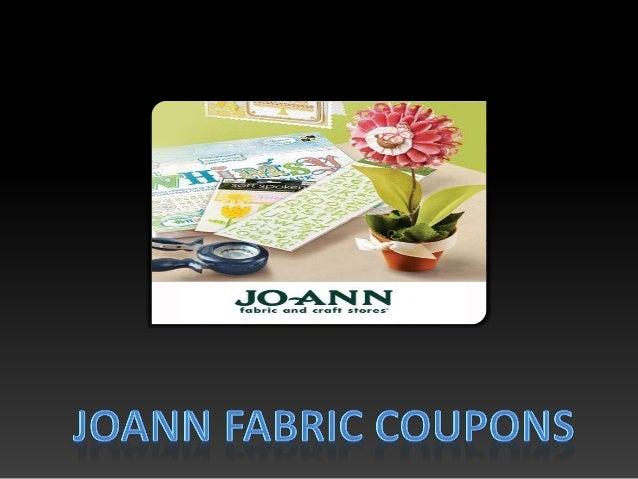 Joann fabriccoupons Slide 2