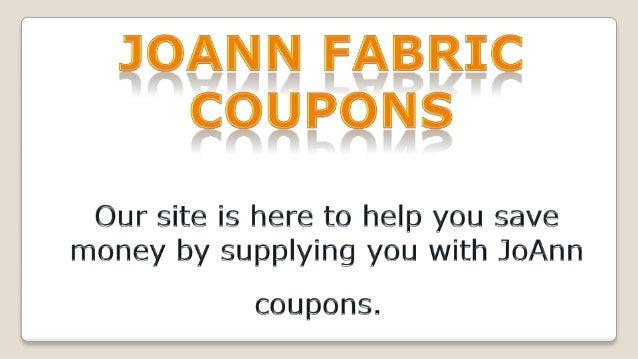 Joann fabric coupons Slide 2