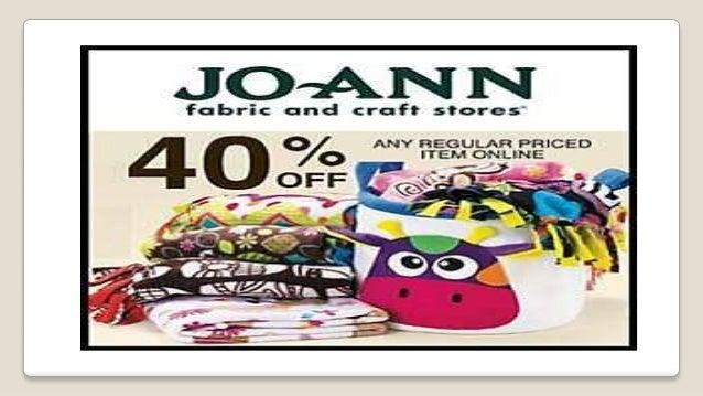 Joann fabric coupons Slide 3