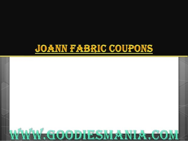 Joann Fabric coupons