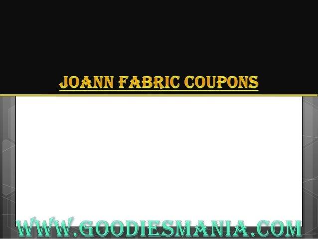 Joann Fabric coupons