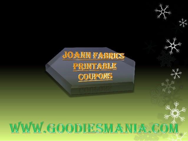 Joann Fabrics printablecoupons