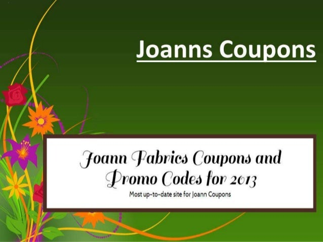 Joanns coupons