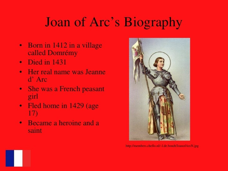 a biography of joan of arc A short summary of 's joan of arc this free synopsis covers all the crucial plot points of joan of arc.