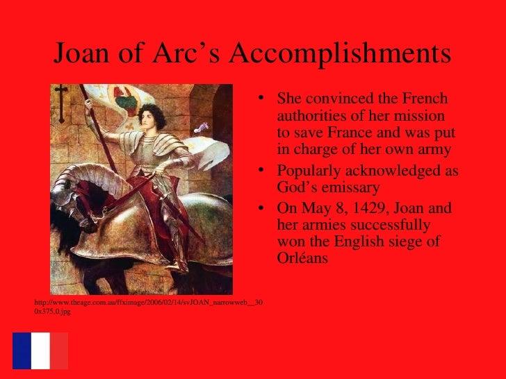 joan of arc accomplishments