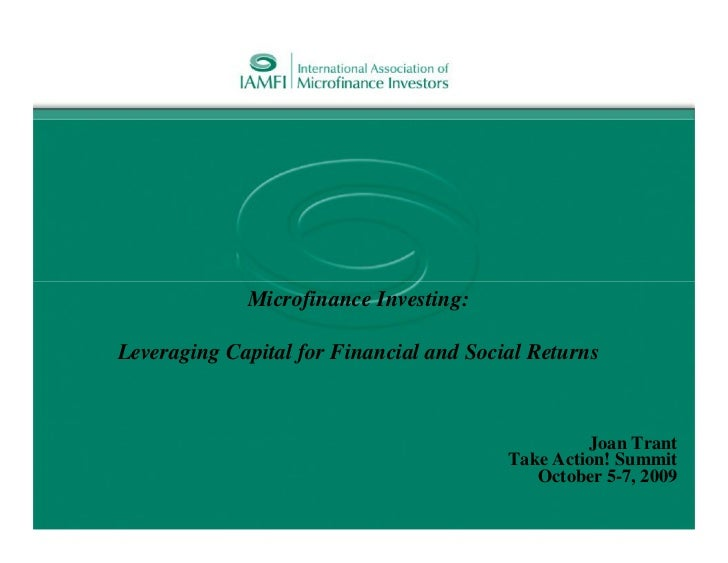 Microfinance Investing:Leveraging Capital for Financial and Social Returns                                                ...
