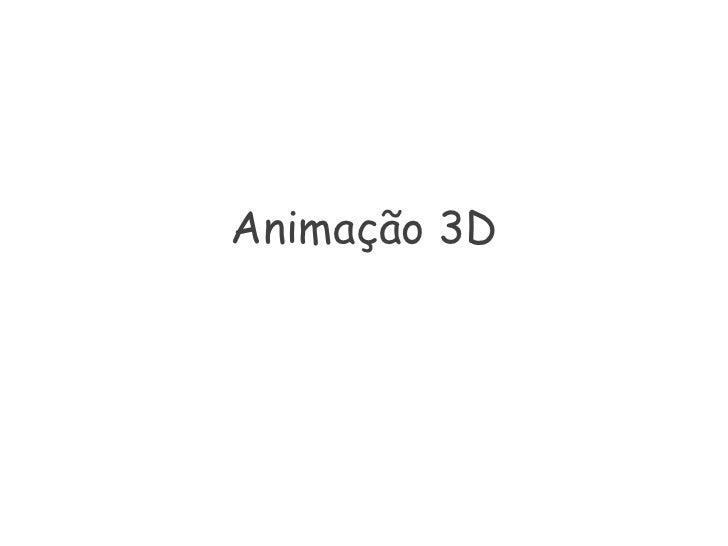 Animação 3D<br />
