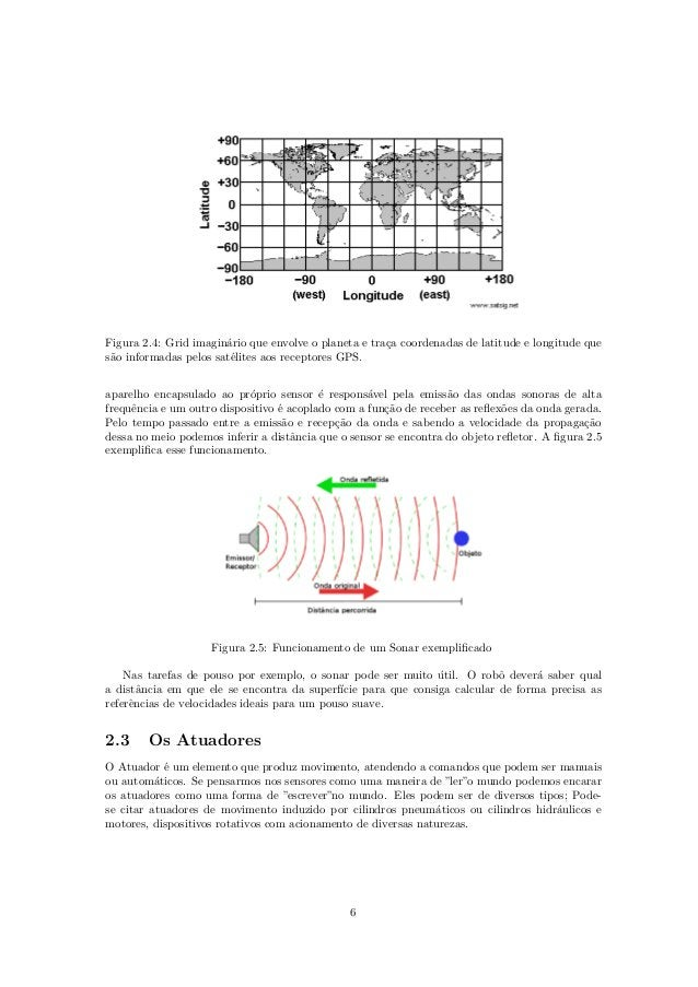 Figura 2.4: Grid imagin´ario que envolve o planeta e tra¸ca coordenadas de latitude e longitude que s˜ao informadas pelos ...