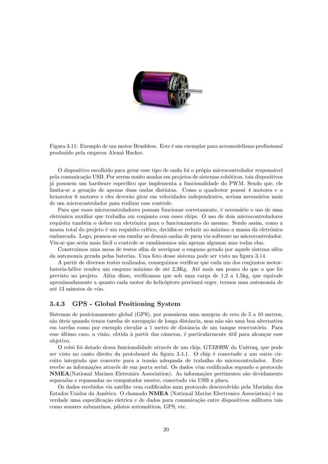 Figura 3.11: Exemplo de um motor Brushless. Este ´e um exemplar para aeromodelismo profissional produzido pela empresa Alem...