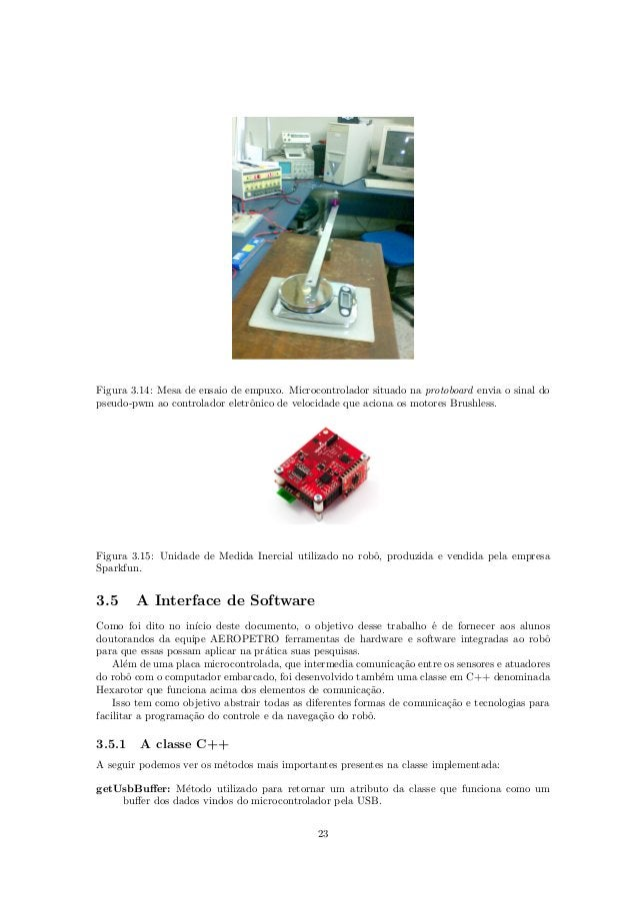 Figura 3.14: Mesa de ensaio de empuxo. Microcontrolador situado na protoboard envia o sinal do pseudo-pwm ao controlador e...